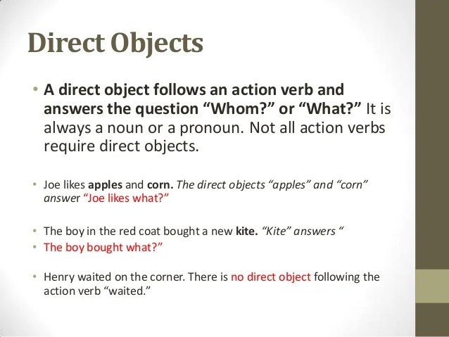 Stupendous Verbs Objects And Subject Complements Wiring 101 Cajosaxxcnl