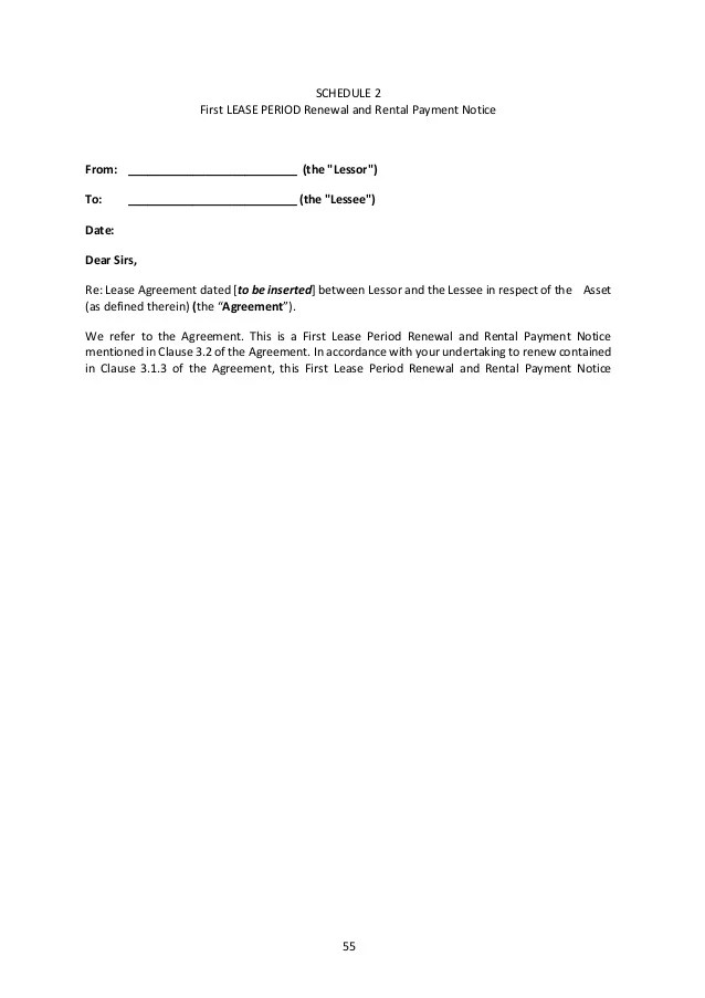 Rental Contract Extension Addendum – Rental Contract Renewal
