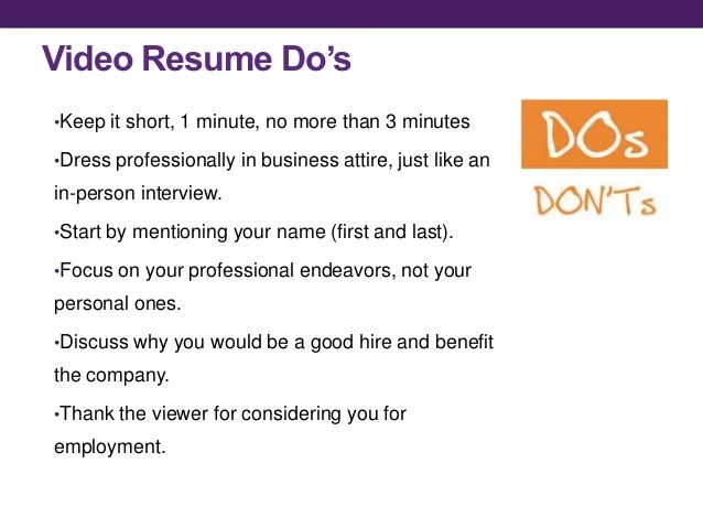 how to do a video resumes - Goalgoodwinmetals - video resume script
