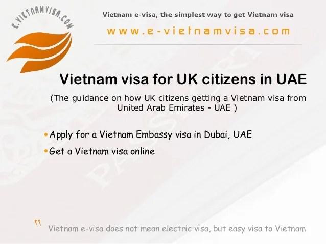 Vietnam Visa For Uk In Dubai Uae