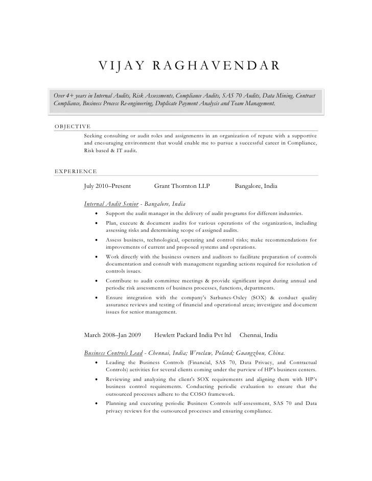auditor cv - Ozilalmanoof - Medicare Auditor Sample Resume