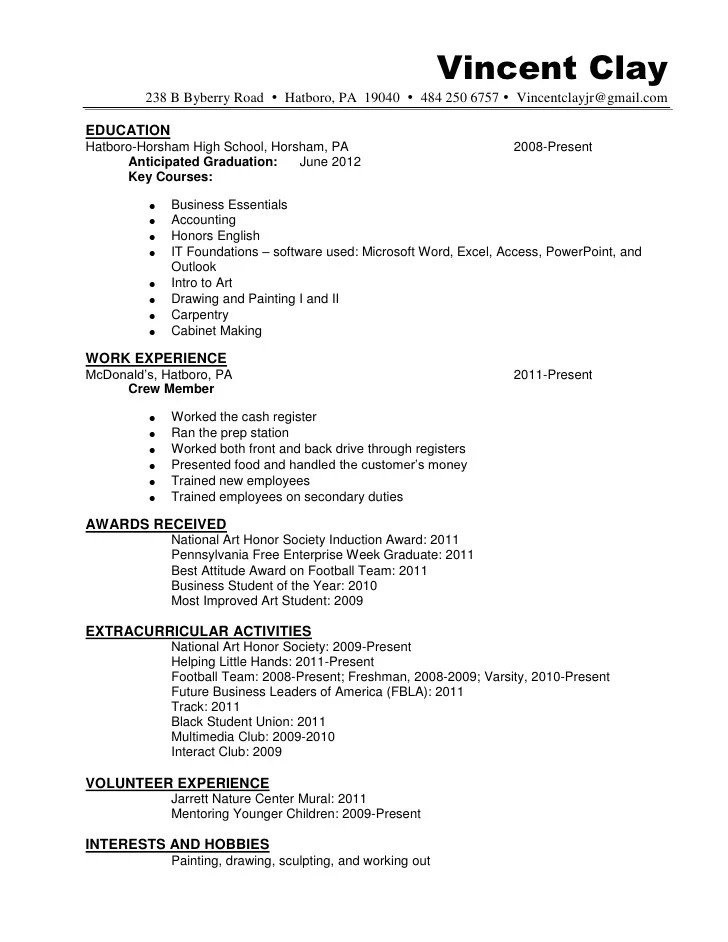 resume honors and activities examples - Josemulinohouse
