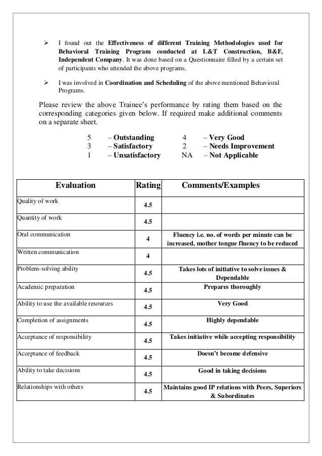 Training Evaluation Form Sample Templates Vishnu Lt Evaluation Form Final
