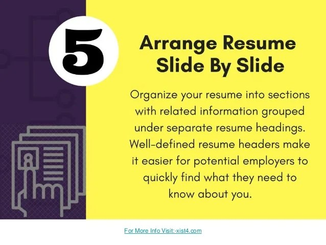 resume step by step guide - Intoanysearch