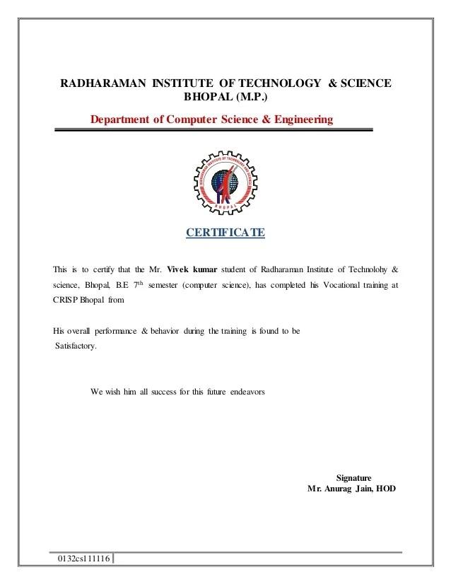 civil engineering training certificate format - Josemulinohouse