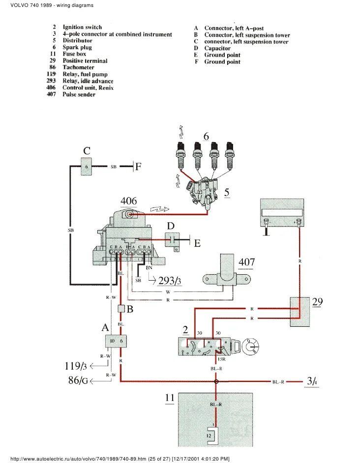 volvo 240 alternator wiring harness