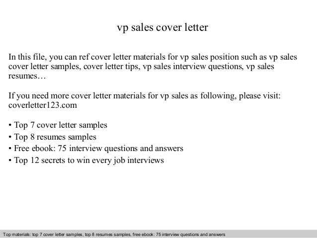 best cover letters vp of saleas - Hizlirapidlaunch - best sales cover letter
