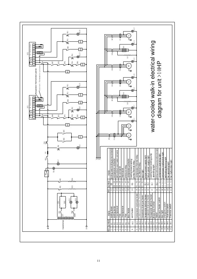 cold room control panel wiring diagram pdf