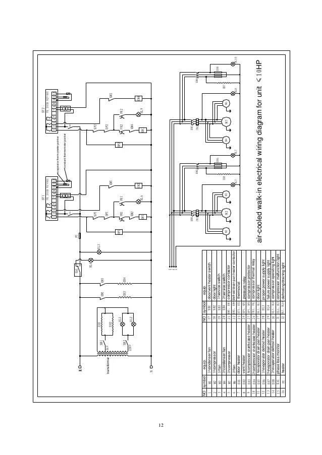 walk in cooler wiring diagram 220v