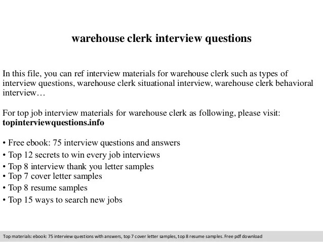 warehouse clerk cover letter - Onwebioinnovate - File Clerk Cover Letter