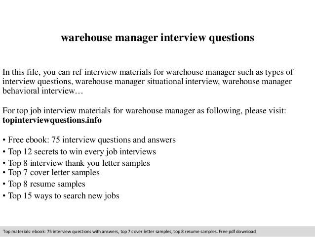 cover letter warehouse manager - Pinarkubkireklamowe