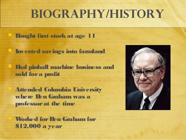 Warren Buffett's Biography
