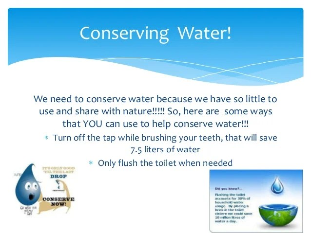 Water + Conservation Powerpoint