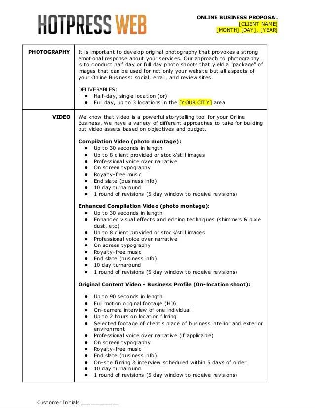 professional bid template - Romeolandinez