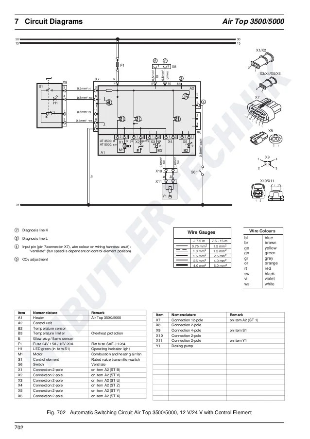 webasto air top 3500 st wiring diagram