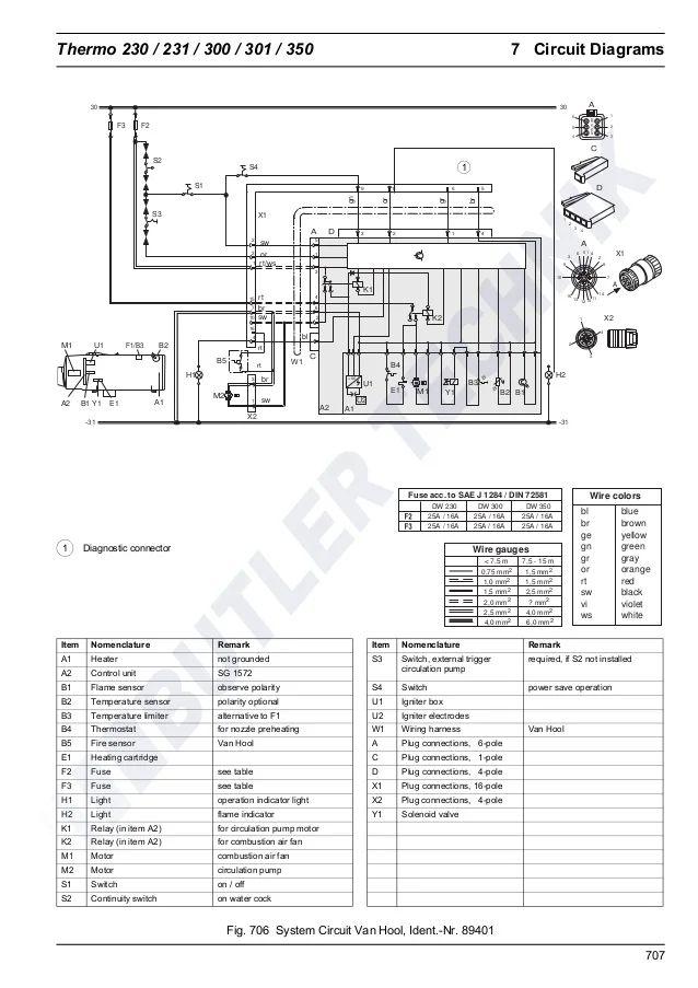 webasto wiring diagram st2000