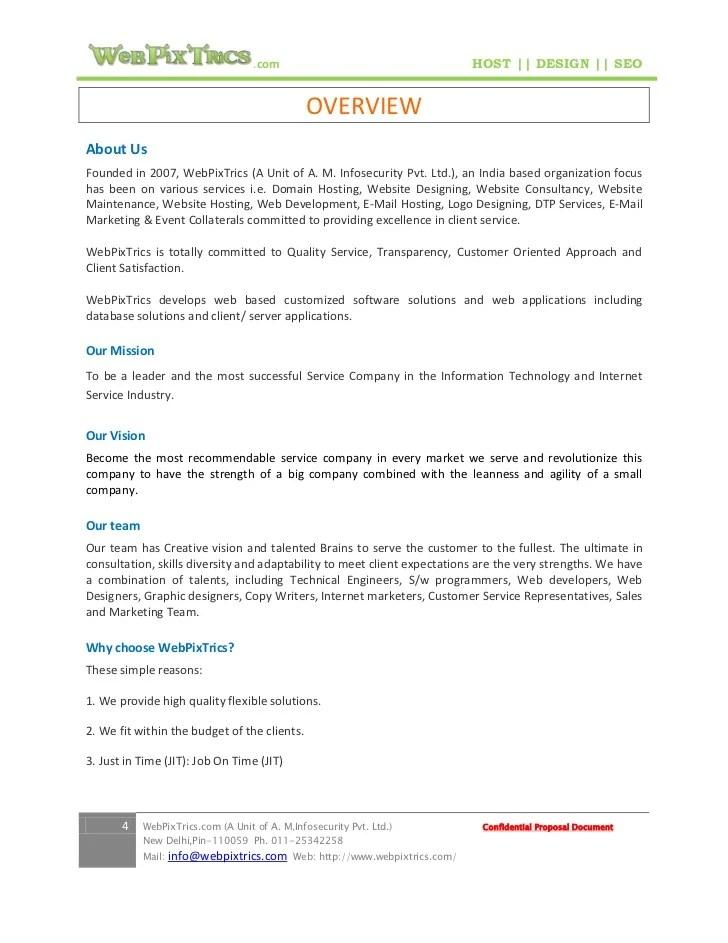 web design proposal templates - Minimfagency