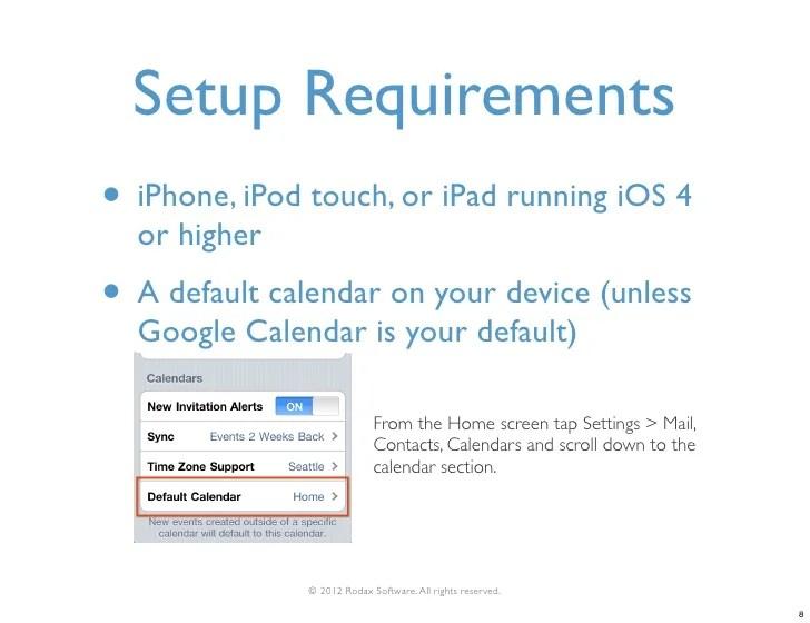 How To Setup Google Calendar On Your Iphone How To Sync An Iphone With Your Outlook Calendar Or Google Organizing With Skedi Family Calendar