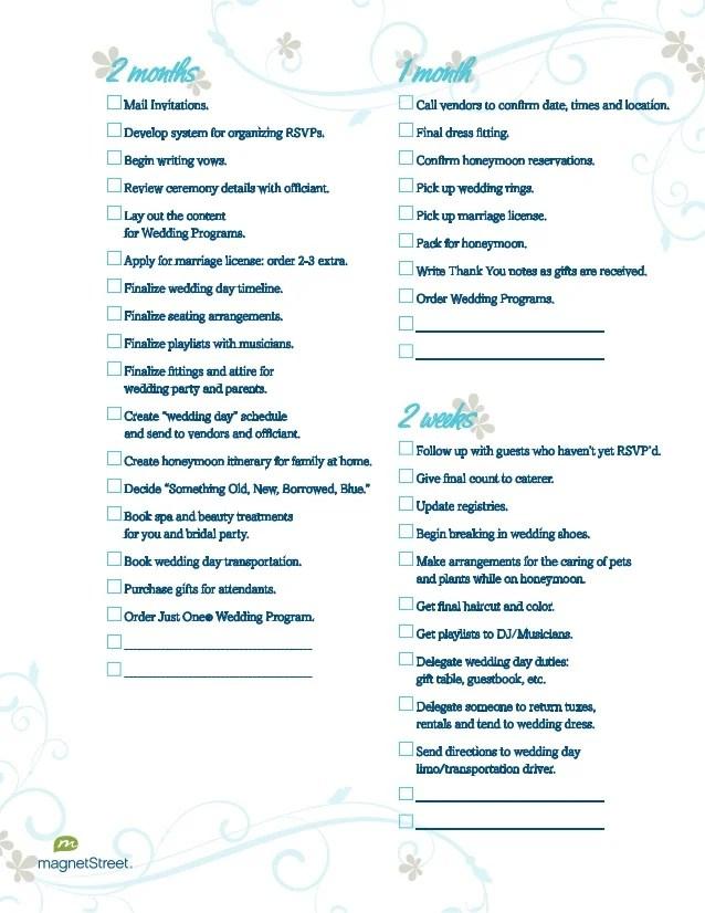 wedding day checklist for bride - Josemulinohouse