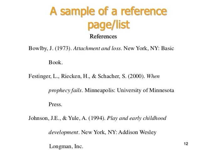 Create Reference Page In Apa Format | Free Downloadable Resume