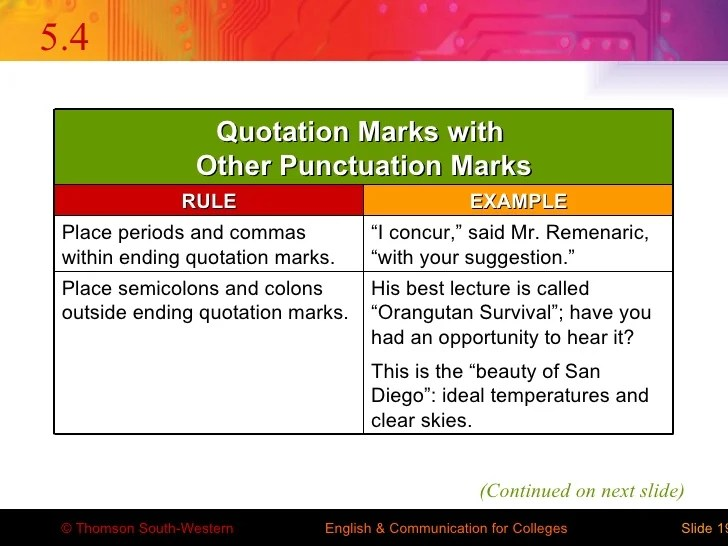punctuation after quotations