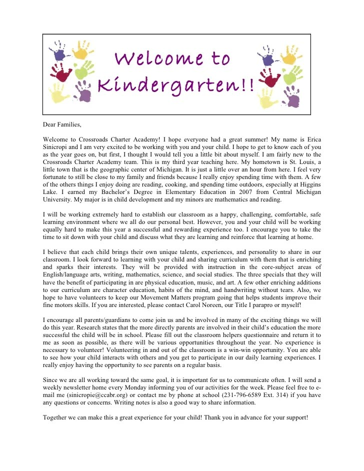 sample welcome back to school letters to parents - Tomadaretodonate - teacher welcome back letter