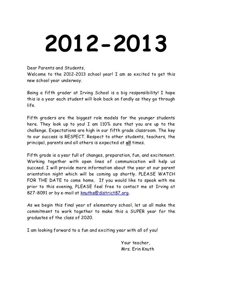 teachers welcome letter - Goalgoodwinmetals - teacher welcome back letter