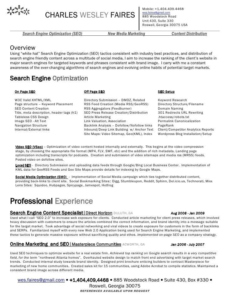 resume search engine evaluator