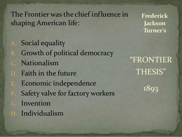 Fredrick Jackson Turner Thesis