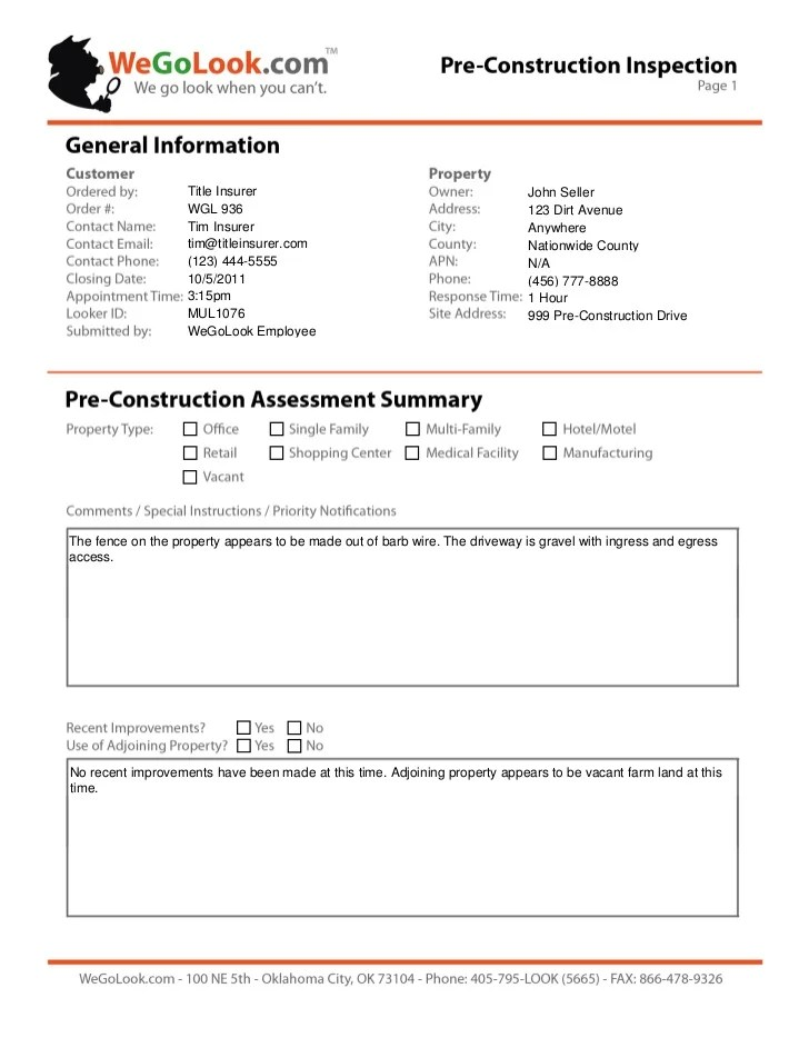 inspection reports template - Josemulinohouse - what are general report templates