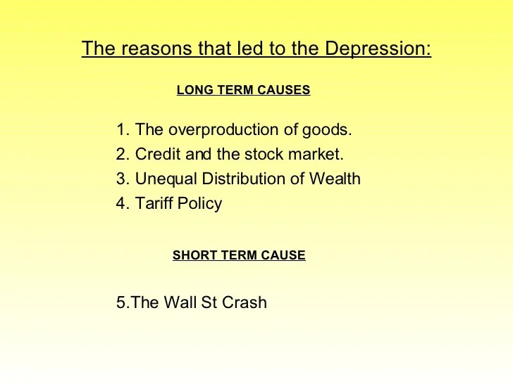causes of the great depression essay - Artij-plus