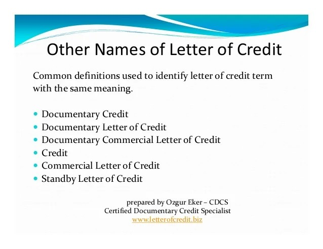 Letter Of Credit Wikipedia What Is Letter Of Credit