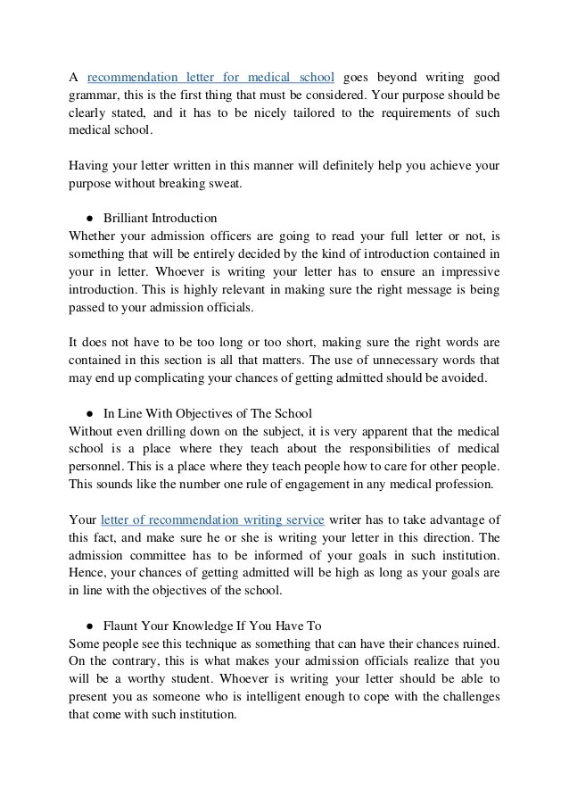 med school letter of recommendation requirements - Josemulinohouse - medical school recommendation letter