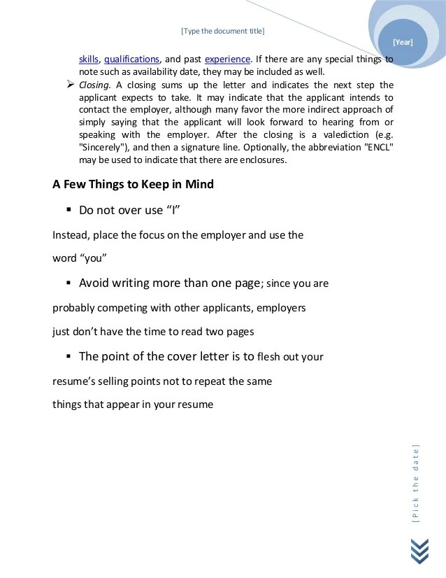 how to type a cover page - Minimfagency - The Cover Letter