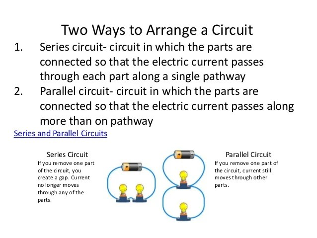 electric circuit series and parallel circuits and conductors