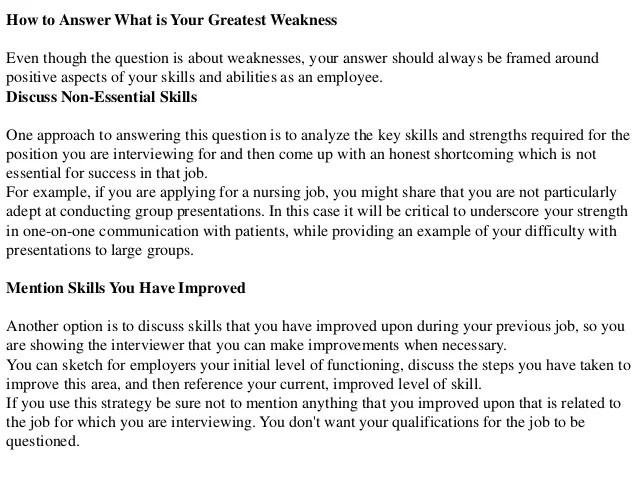 employee weakness - Apmayssconstruction
