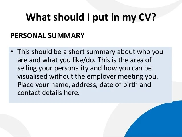 should you put your date of birth on a cv