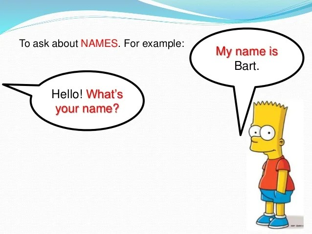 What S Your Name