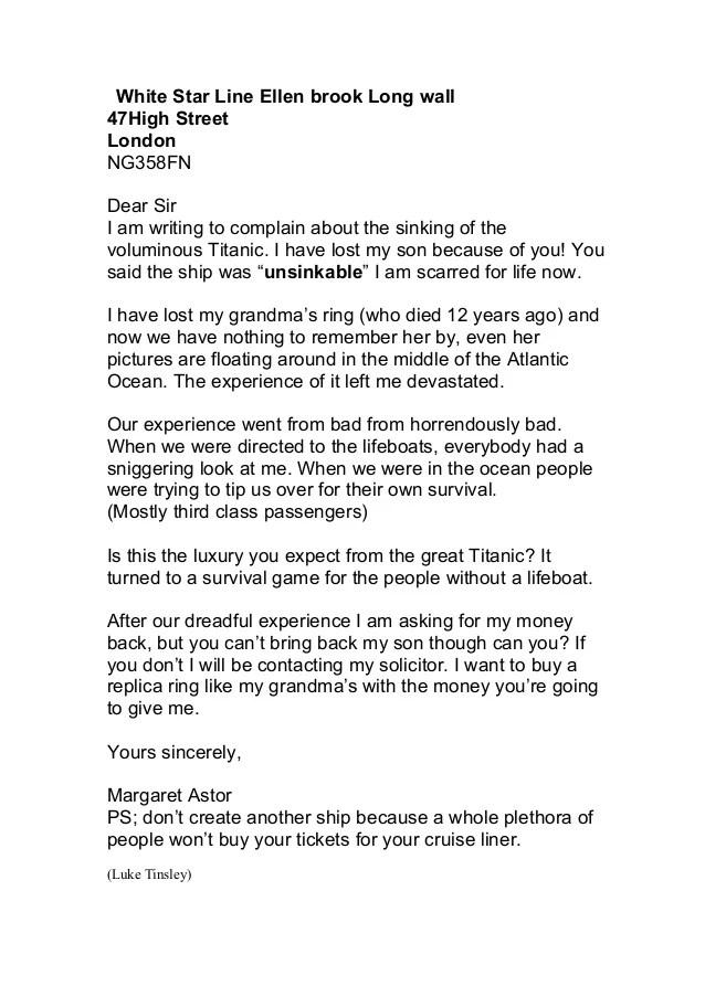 Reimbursement Claim Letter Free Letters Whole Class Of Letters Complaint Nov2014