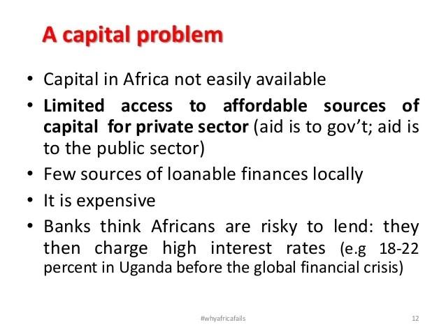 Why africa fails ucu mukono 14 mar 2013