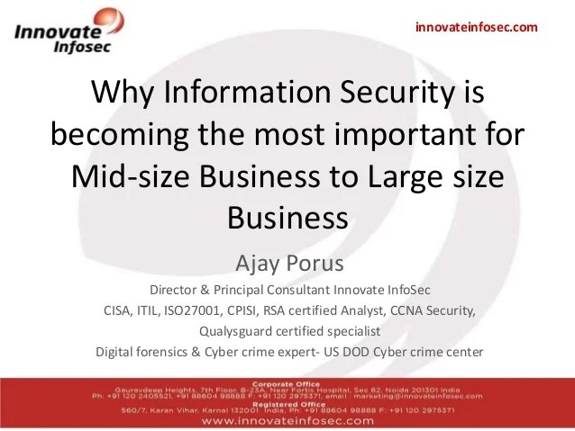 Why information security is becoming the most important for mid size