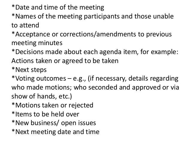 meeting minutes tools