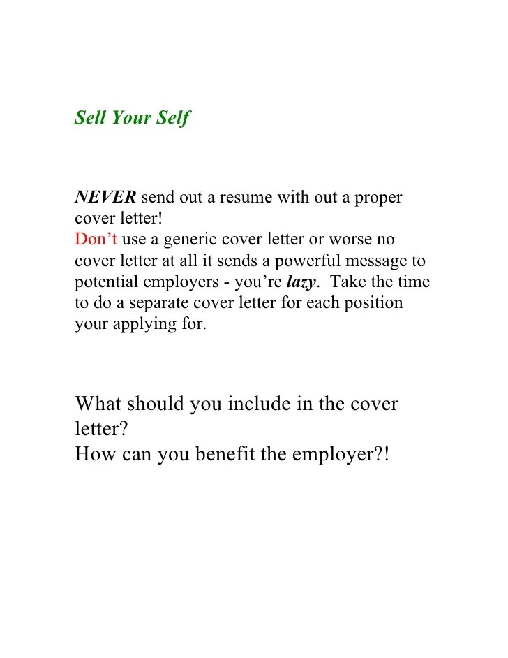 are generic cover letters good - Deanroutechoice