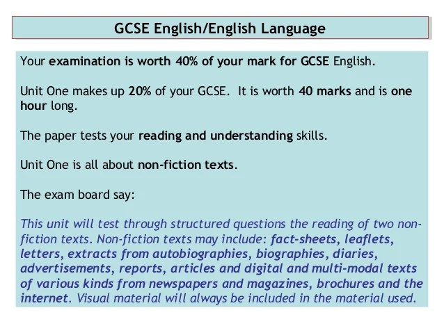 gcse english language essay questions Standardised and nationally benchmarked gcse english language and   judgement could be used to mark gcse english language essay questions.