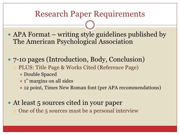 apa format paper guidelines