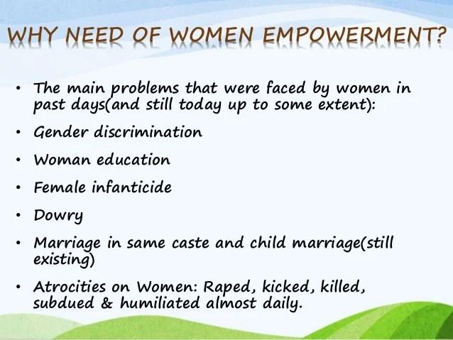 Write my essay on need of women empowerment
