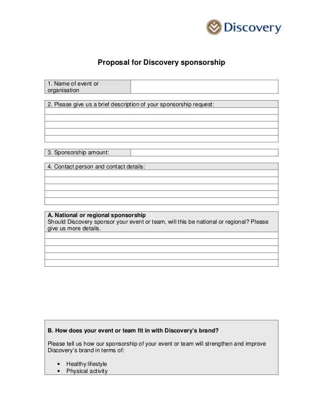 Sponsorship Proposal Letter For An Event – Sample Sponsorship Proposal Letter Template