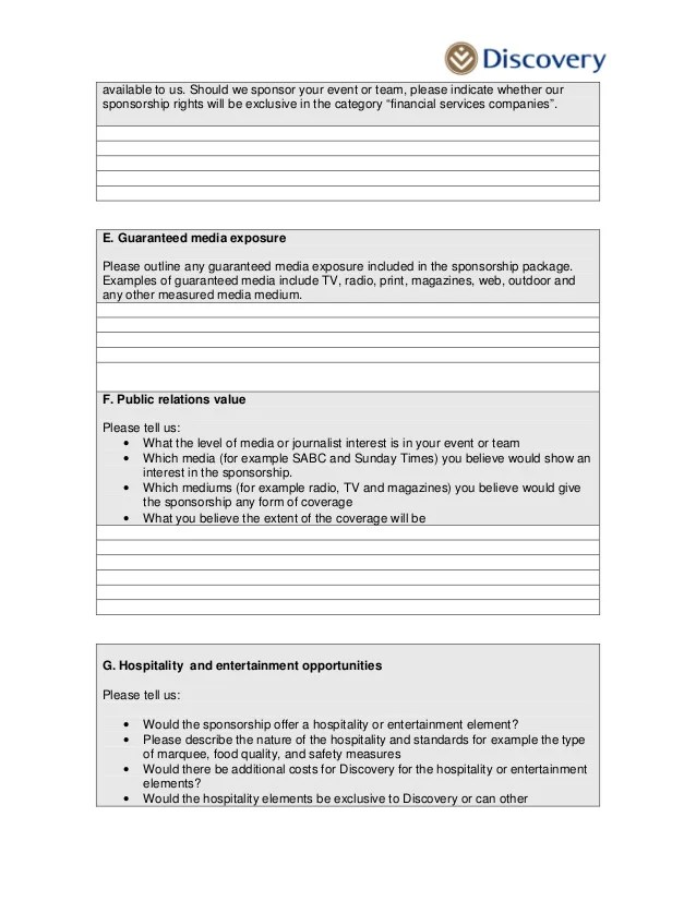 Sponsorship Proposal Demographics | Ejemplos De Sustantivos Que