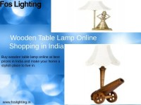 Wooden Lamp Online Shopping in India - Foslighting