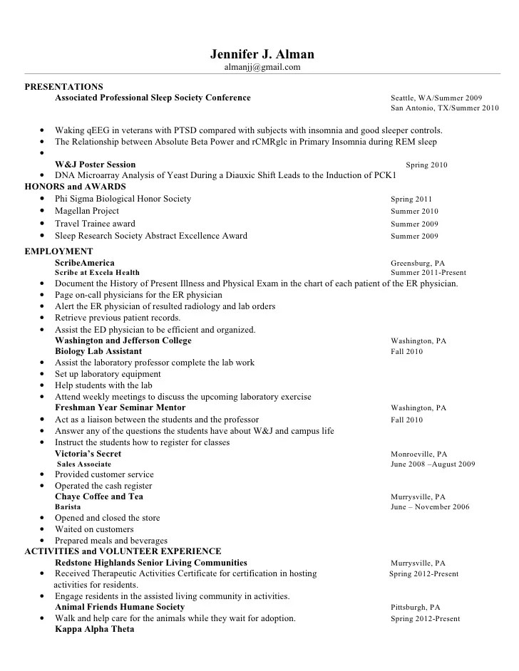 how to write shadowing experience on resume resume ideas